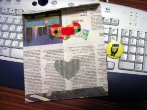 商品を入れてくれた袋:「イッセー尾形のとまらない生活2008 in 山形」を観ました