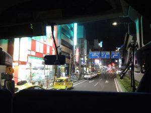 高速バスで関西へ