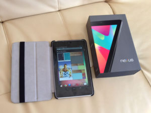 googleのタブレット端末、Nexus7を購入した。