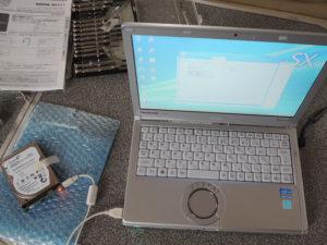 ノートPCのハードディスクをSSHDに換装する。