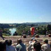 真下慶治記念美術館の「杉島諏訪太鼓 & 第7回 大淀いもこ祭り」
