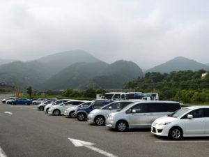 奥の高いのが石鎚山:金比羅山を参拝する(四国旅行)