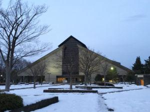 夕暮れの山形美術館