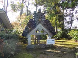 法堂の鬼瓦:高岡市にある瑞龍寺を参拝する